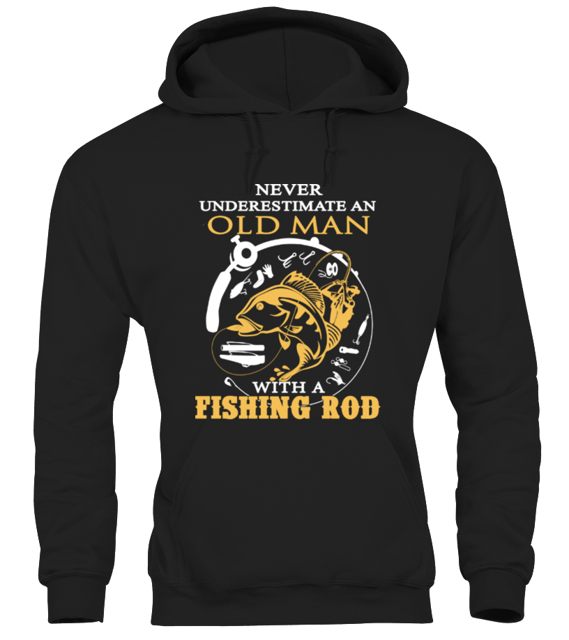 Old Man With A Fishing Rod