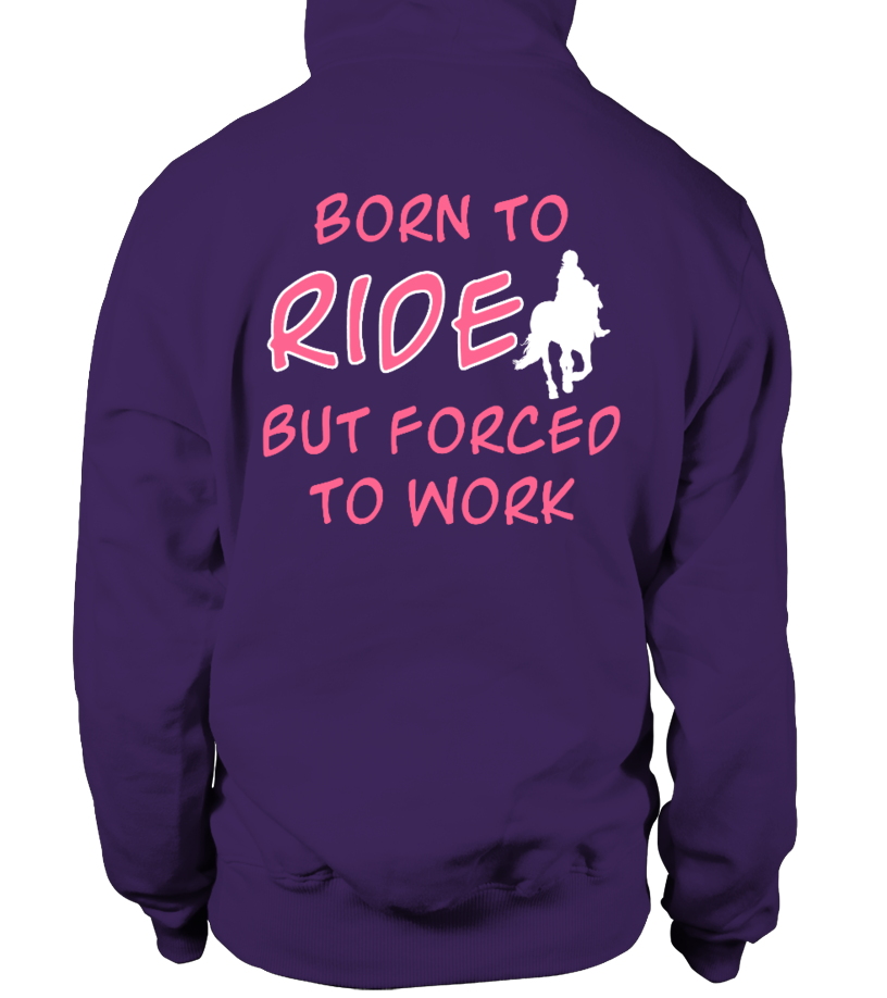 BORN TO RIDE BUT FORCED TO WORD T-shirt