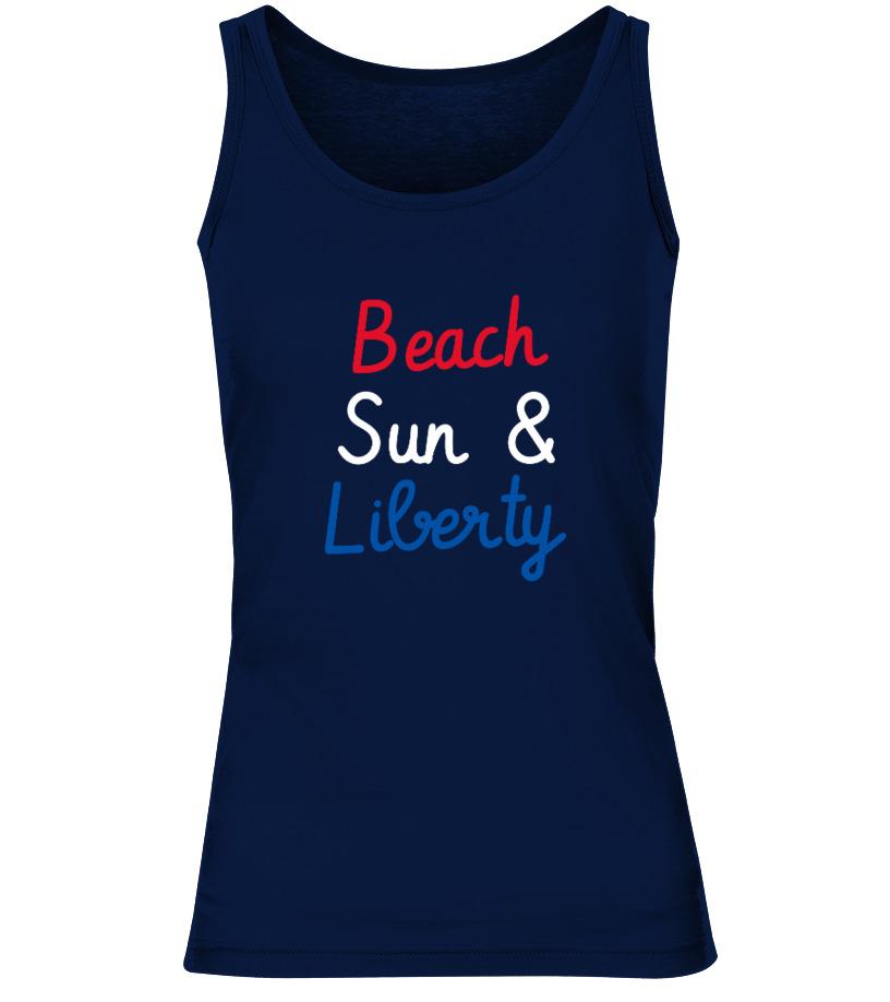 Beach Sun and Liberty 4th Of July Shirt