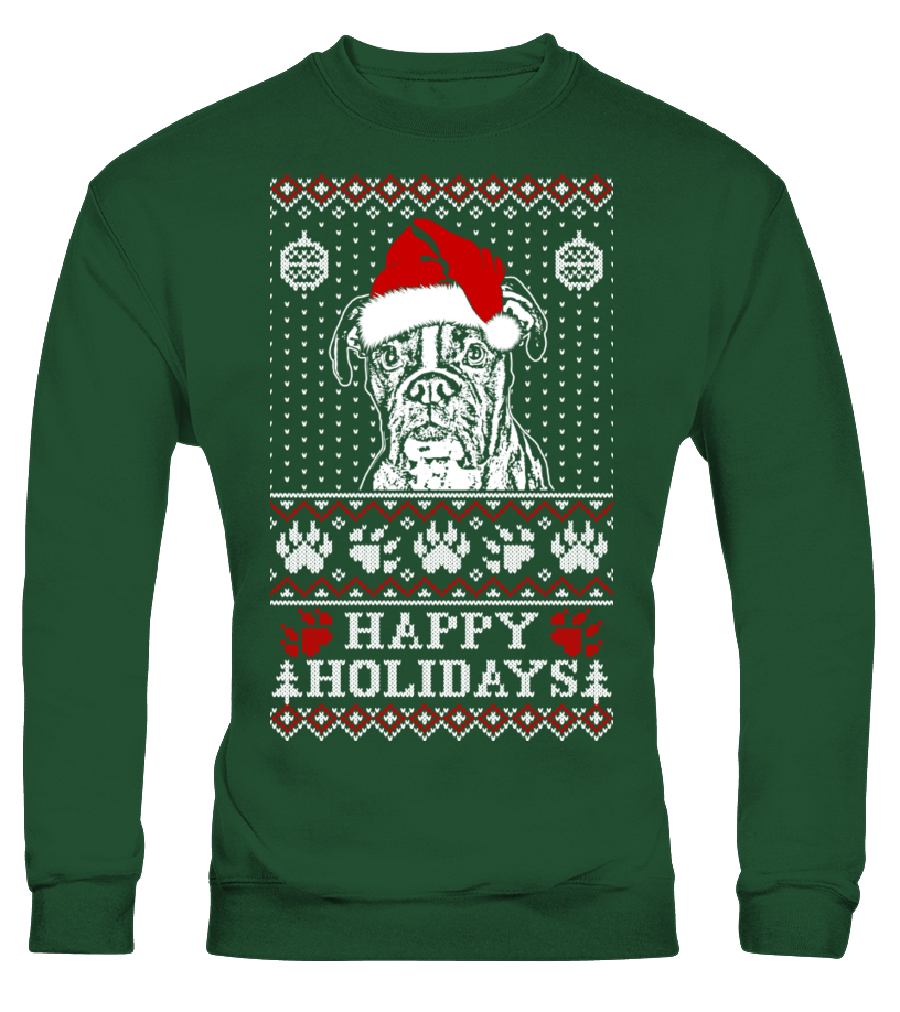 Happy Holidays Boxer