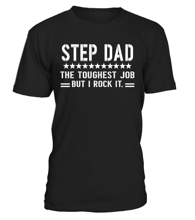 Funny Father T-Shirt - Step Dad Round neck T-Shirt Unisex