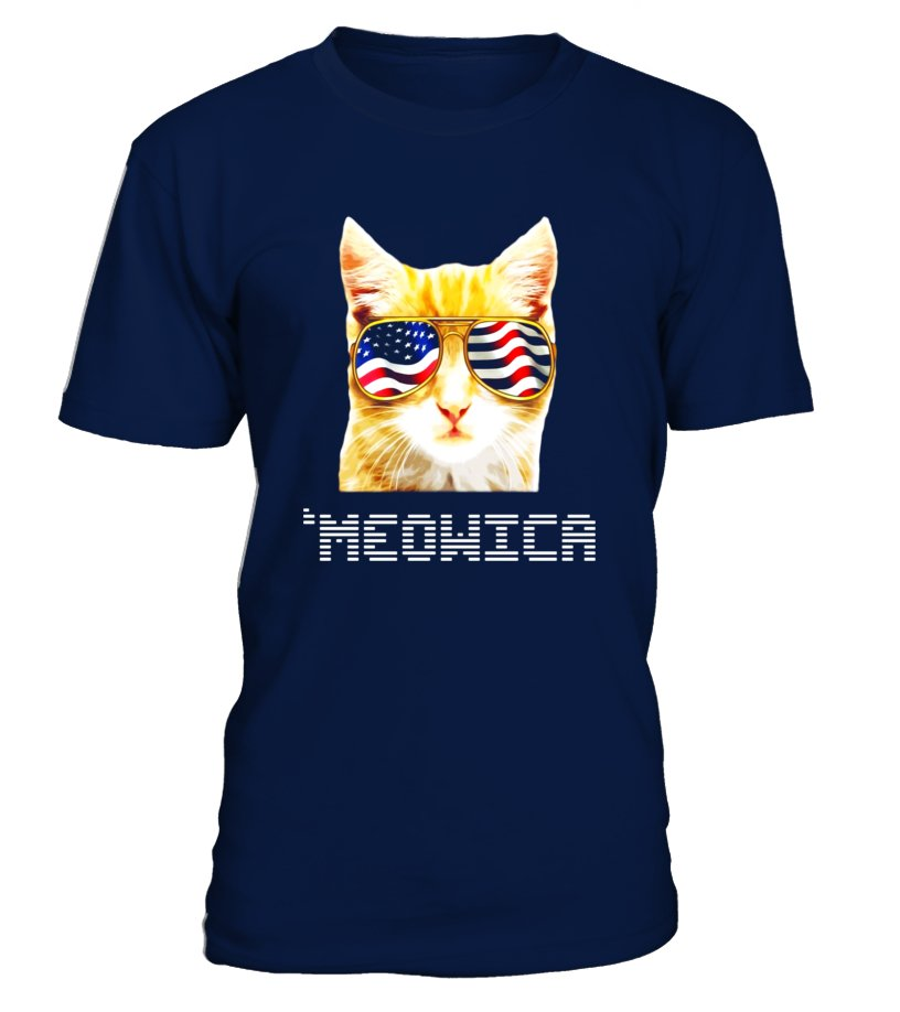 Funny Cat 4th of July T-Shirt 'Meowica