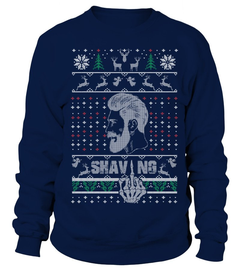 Funny Beard Christmas sweater design