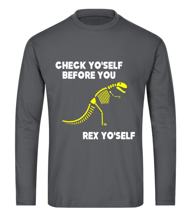 8f3bf943 Best Funny T Rex T Shirt Check Yo Self Before You Rex YoSelf Tee Shirts,