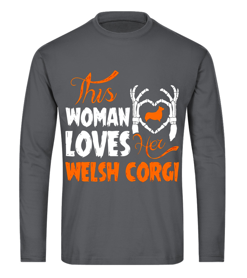 Funny Halloween - This Woman Loves Her Welsh Corgi Halloween T-Shirt Long sleeved T-shirt Unisex