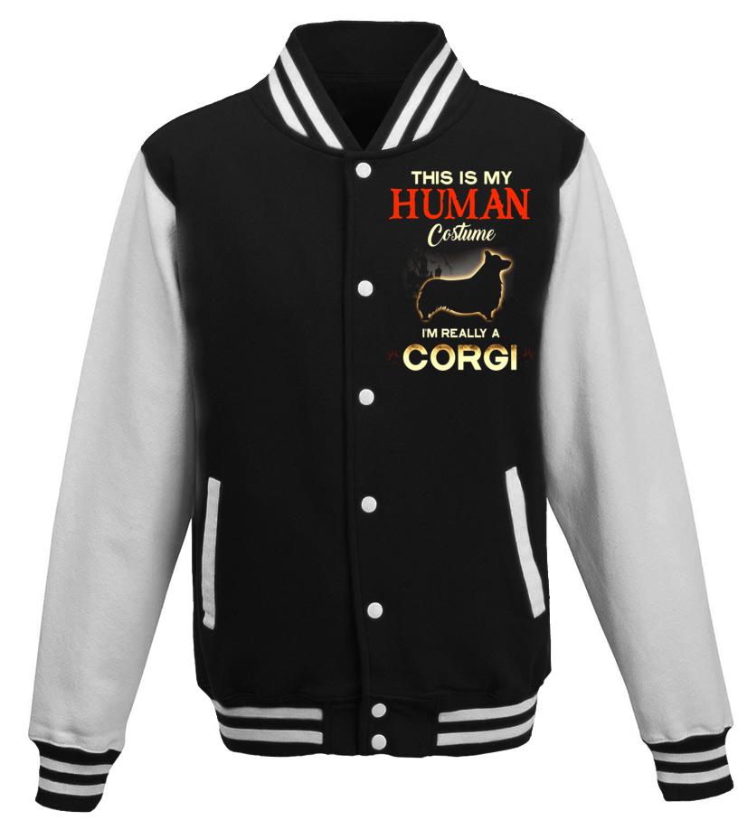 Best Halloween - This Is My Human Costume Im Really A Corgi Halloween TShirt Baseball Jacket Unisex