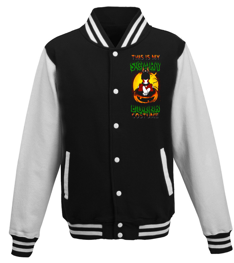 Awesome Halloween - This Is My Scary Boxer Costume - Dog Boxer Halloween T-Shirt Baseball Jacket Unisex