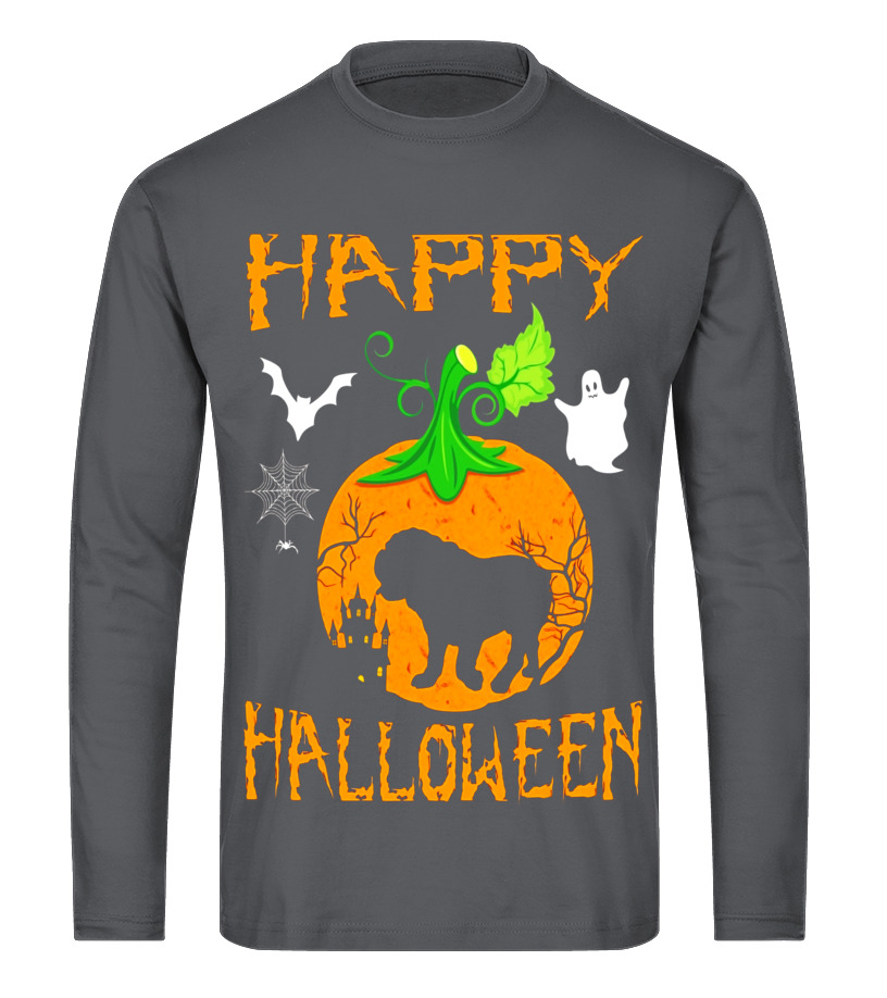 Amazing Halloween - OLD ENGLISH BULLDOG Dog In Pumpkin Happy Halloween T-Shirt Long sleeved T-shirt Unisex