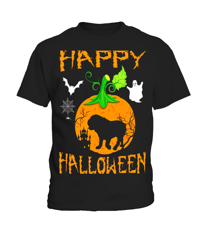 Amazing Halloween - OLD ENGLISH BULLDOG Dog In Pumpkin Happy Halloween T-Shirt Kid T-Shirt