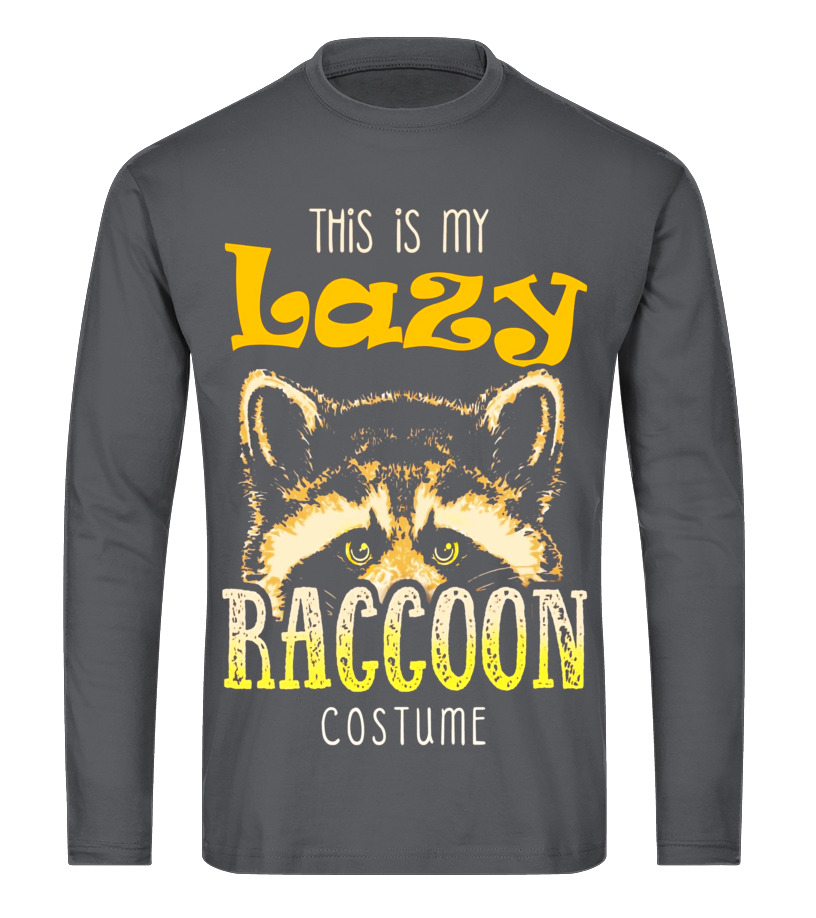 Amazing Halloween - This Is My Lazy Raccoon Halloween Costume Shirt Long sleeved T-shirt Unisex