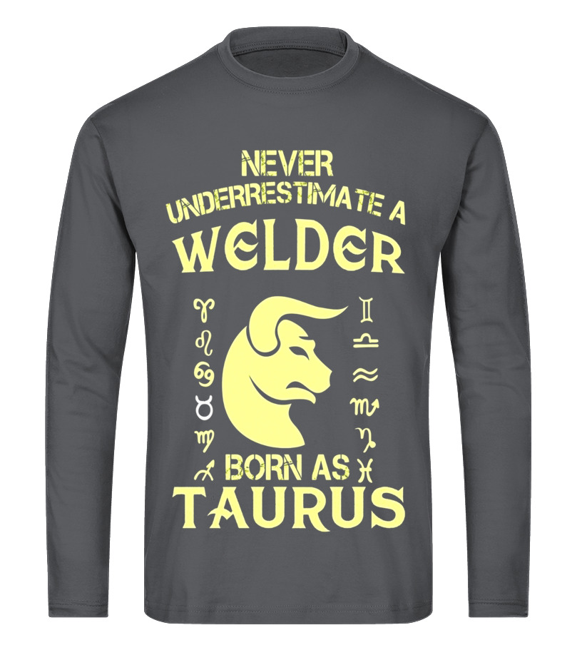Awesome May T-Shirt - Welder T-Shirt Taurus Astrology Zodiac Birthday Gift Long sleeved T-shirt Unisex