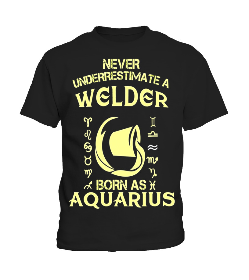 Funny February Birthday - Welder T-Shirt Aquarius Astrology Zodiac Birthday Gift Kid T-Shirt