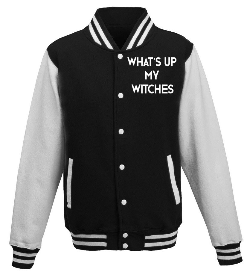 Gifts Halloween - Whats Up My Witches T-Shirt Funny Witch Halloween Tee Baseball Jacket Unisex