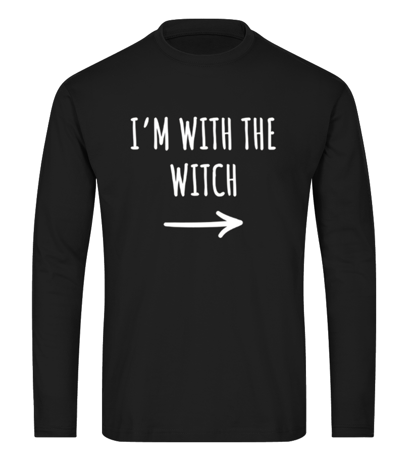 Shop Halloween - Im With The Witch T-Shirt Halloween Long sleeved T-shirt Unisex