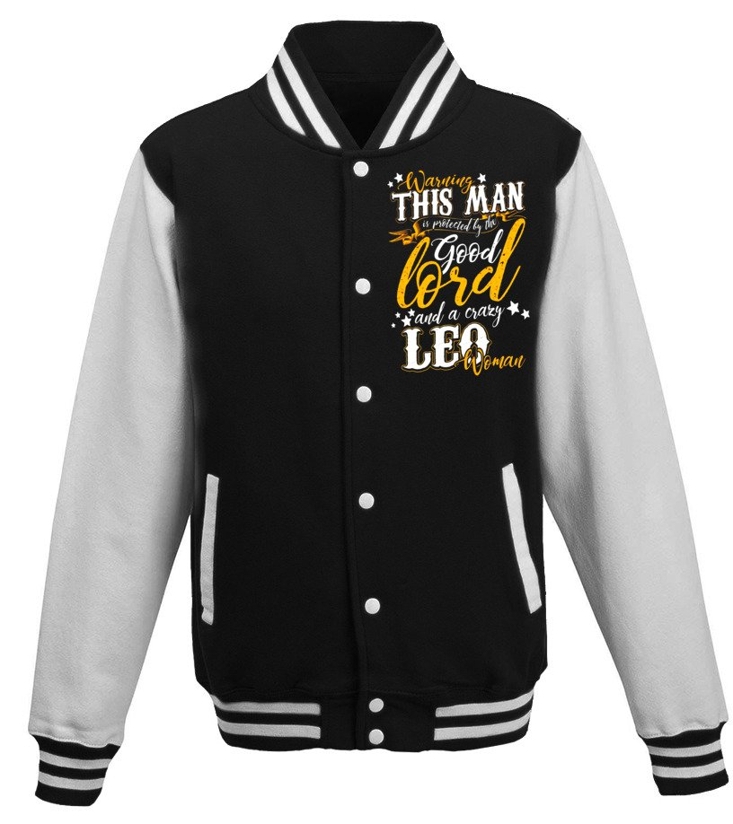 Gifts August T-Shirt - Warning This Man Is Protected By The Leo August Guy T-Shirt Baseball Jacket Unisex