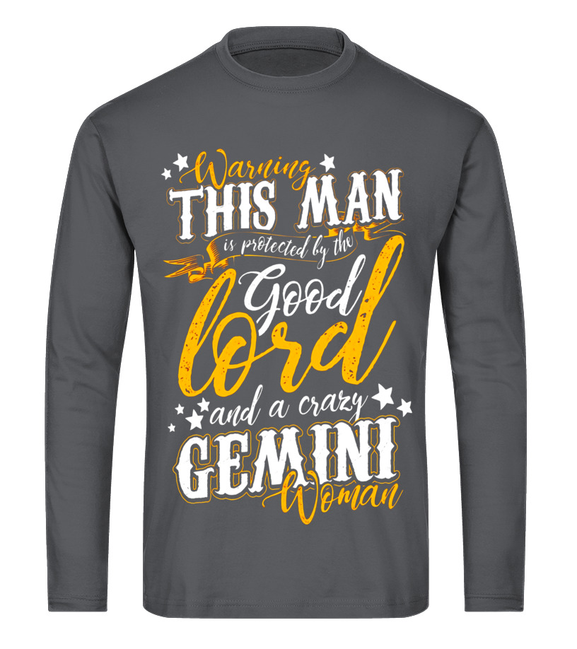 Best June T-Shirt - Warning This Man Is Protected By The Gemini June Guy T-Shirt Long sleeved T-shirt Unisex