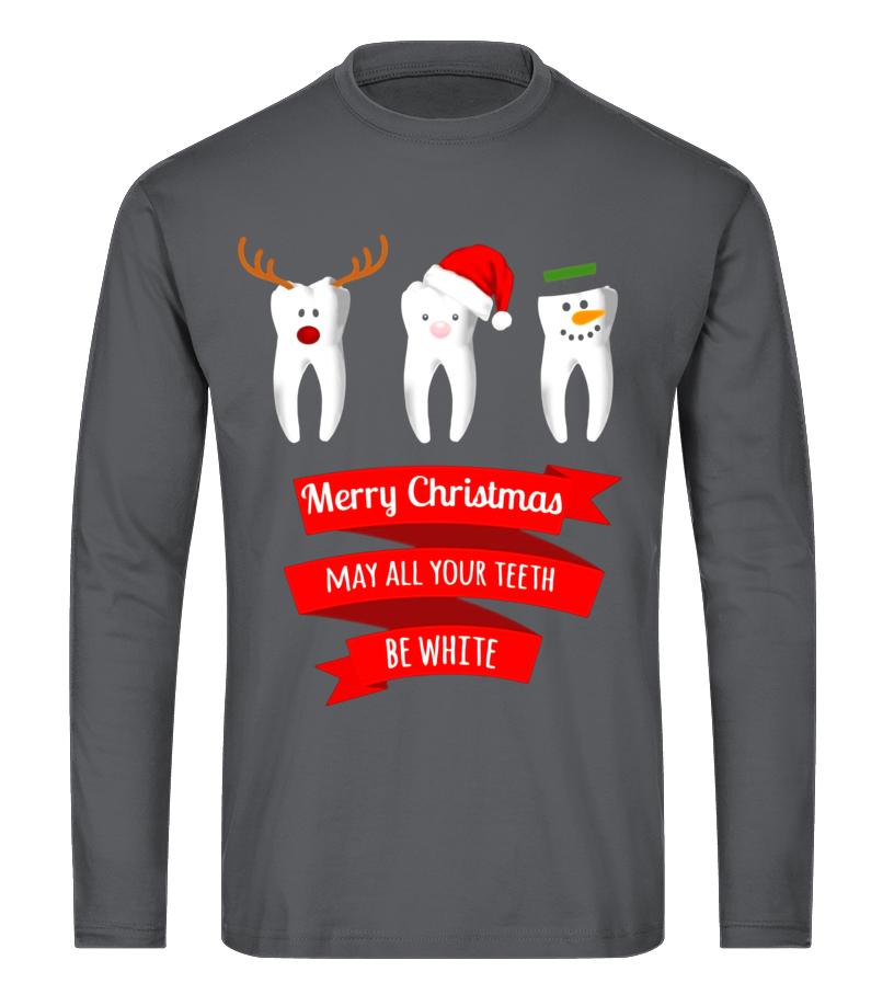 Gifts Christmas - Dentist Funny Christmas Thanksgiving T Shirt Long sleeved T-shirt Unisex