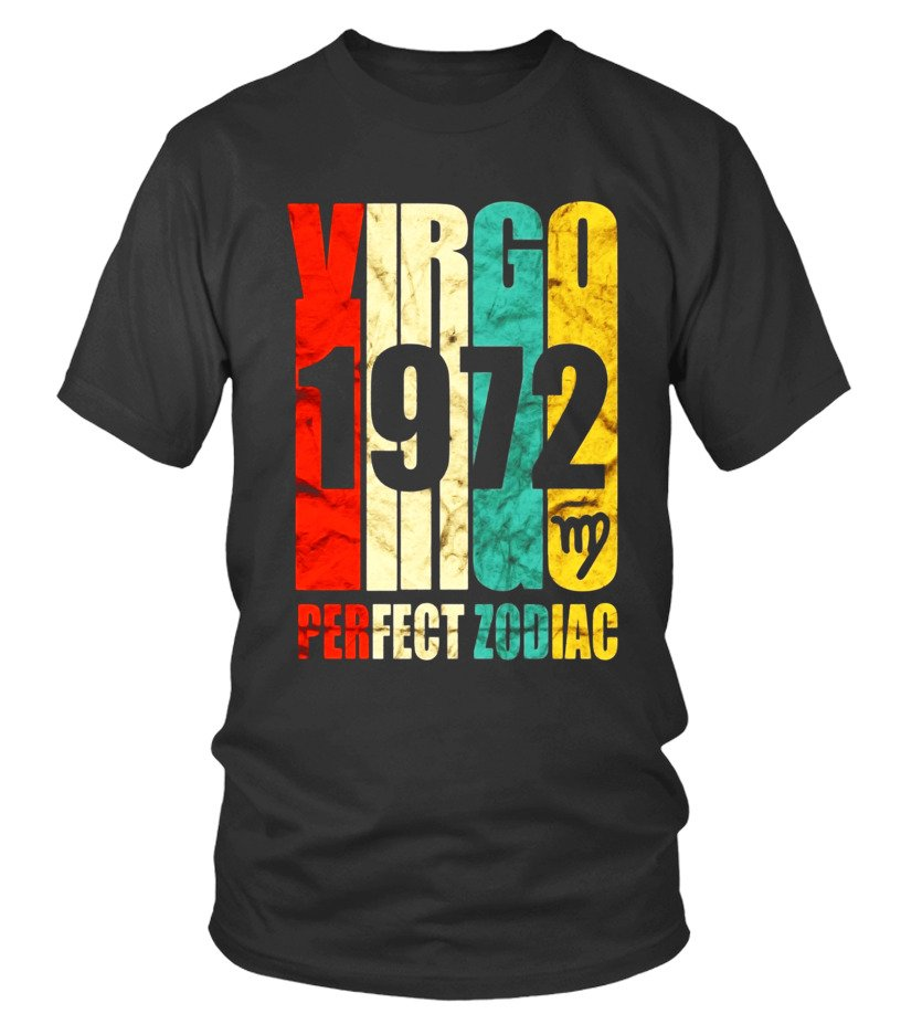 Awesome Vintage Virgo 1972 T Shirt 45 Yrs Old Bday 45th Birthday Tee