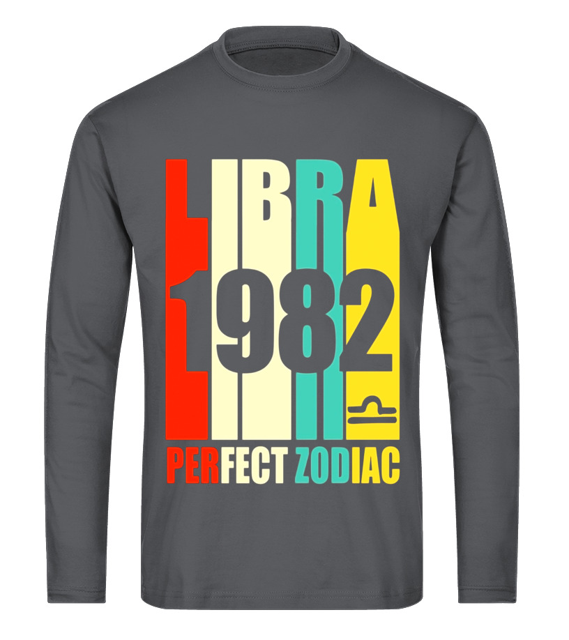 Awesome October Tshirt - Vintage Libra 1982 T-Shirt 35 yrs old Bday 35th Birthday Tee Long sleeved T-shirt Unisex