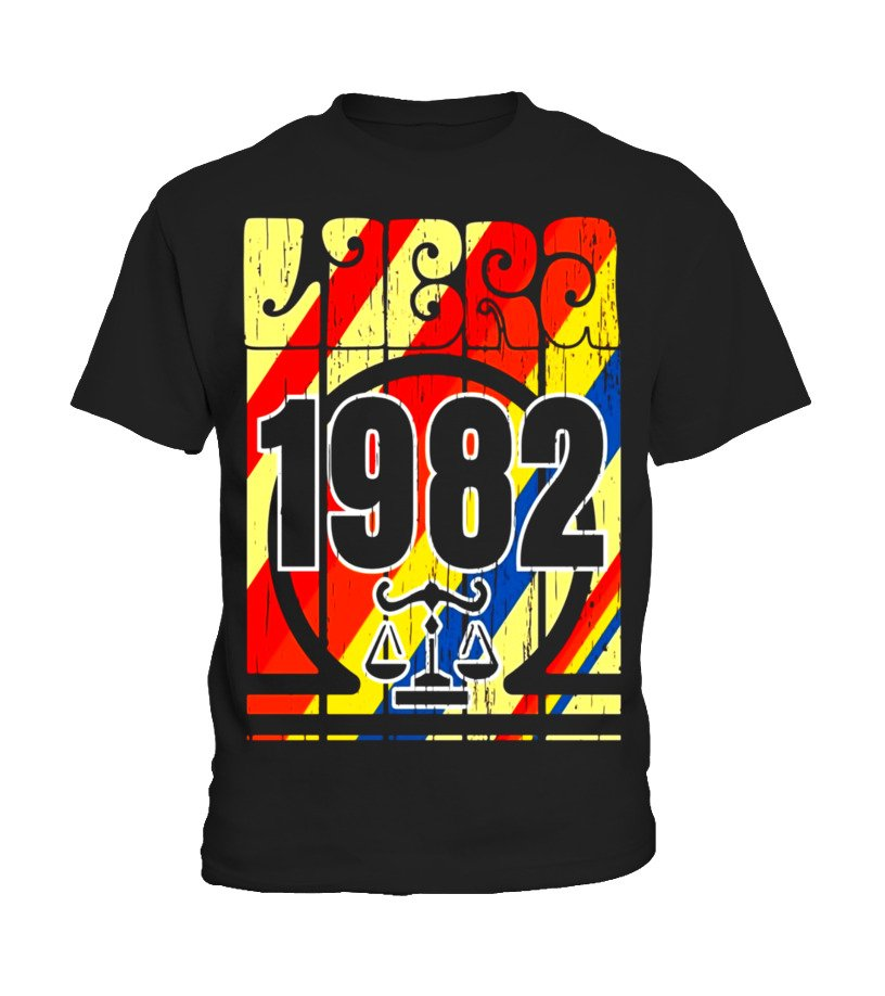Best October Tshirt - Vintage,retro,libra,Awesome,since,made,born,in, 1982 35th Kid T-Shirt
