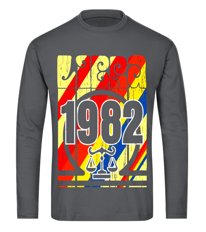 Best October Tshirt - Vintage,retro,libra,Awesome,since,made,born,in, 1982 35th Long sleeved T-shirt Unisex