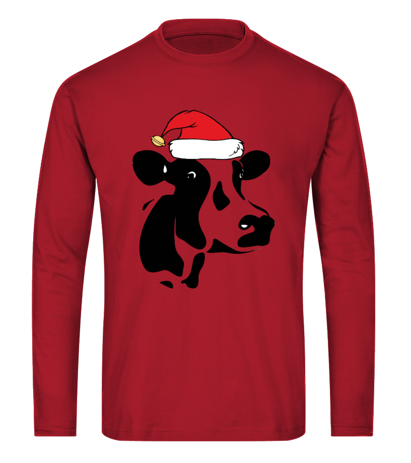 Funny Christmas - Cows Ugly Christmas Sweater Long sleeved T-shirt Unisex