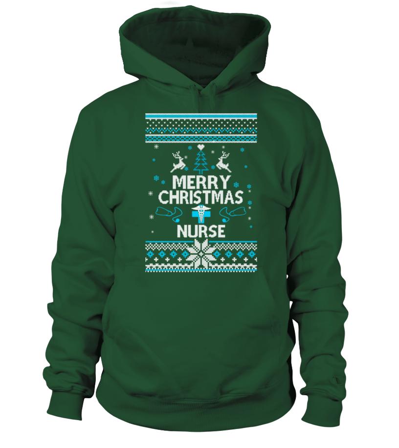 Funny Christmas - UGLY CHRISTMAS SWEATER NURSE T-SHIRT Hoodie Unisex