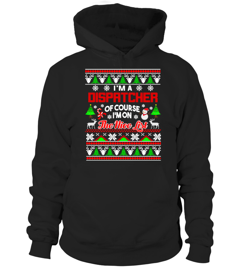Awesome Christmas - Dispatcher Gift Ugly Christmas Sweater Hoodie Unisex