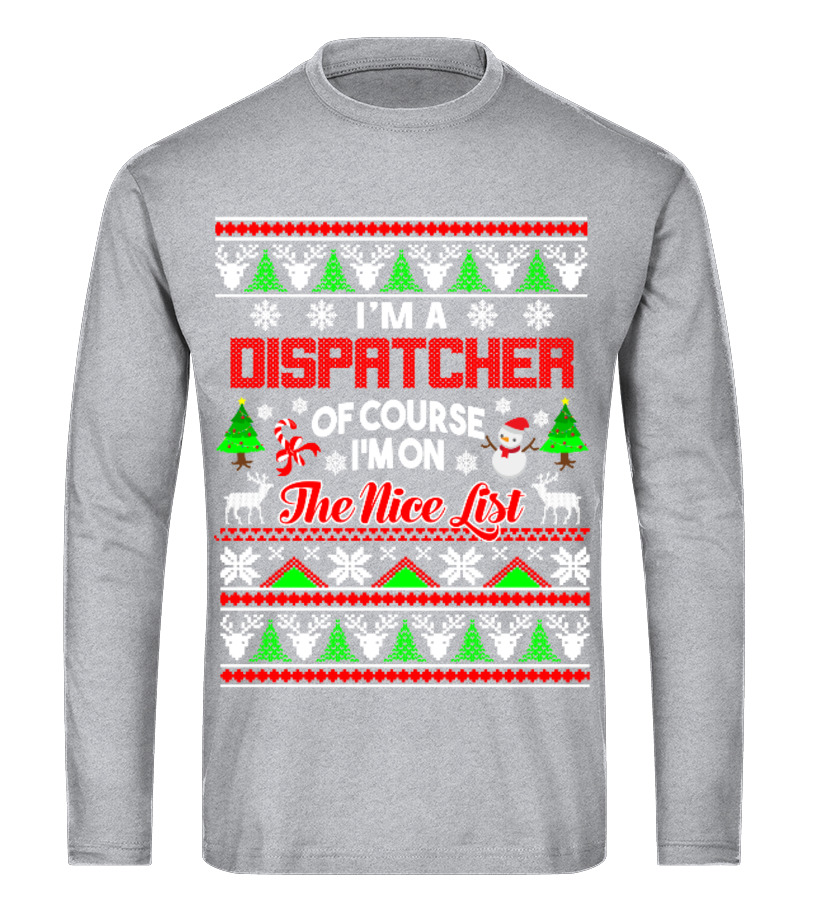 Awesome Christmas - Dispatcher Gift Ugly Christmas Sweater Long sleeved T-shirt Unisex
