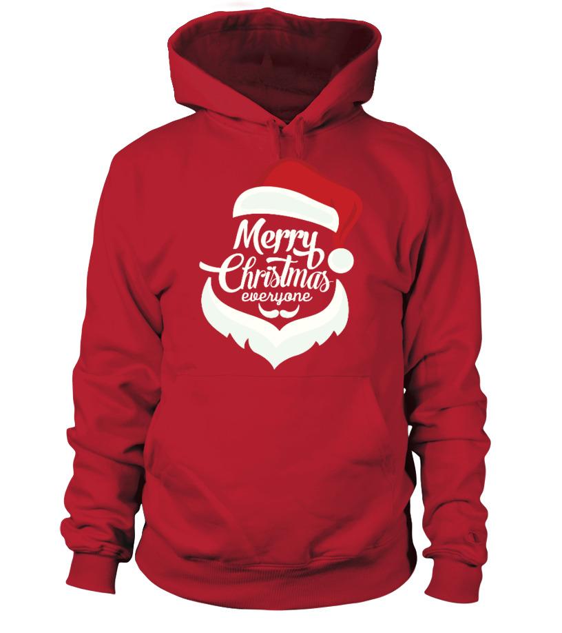 Shop Christmas - Merry Christmas Everyone Hoodie Unisex