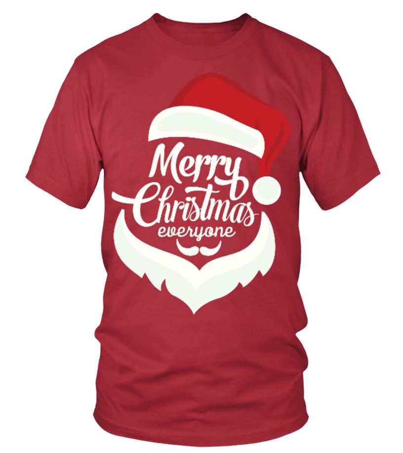 Shop Christmas - Merry Christmas Everyone Round neck T-Shirt Unisex