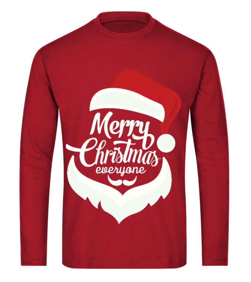 Shop Christmas - Merry Christmas Everyone Long sleeved T-shirt Unisex