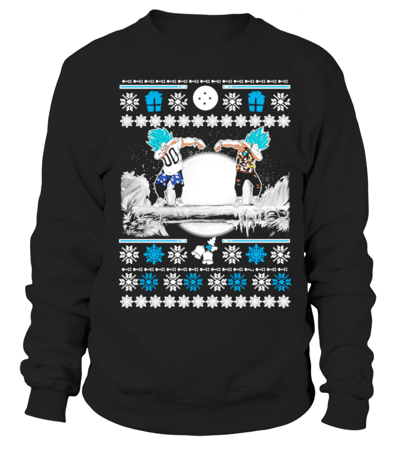 Best Christmas - GOKU \u0026 VEGETA DAB UGLY CHRISTMAS SWEATER Sweatshirt Unisex