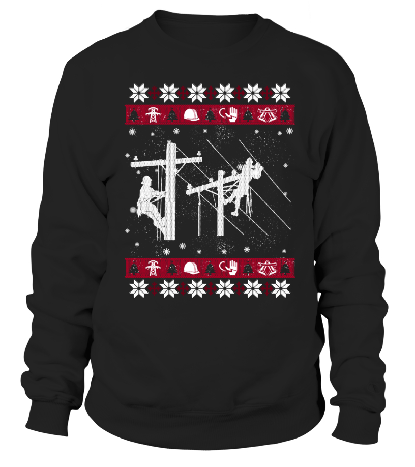 Awesome Christmas - LINEMAN Ugly Christmas Sweaters Sweatshirt Unisex