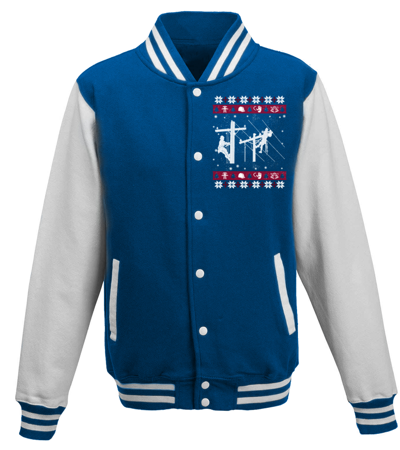 Awesome Christmas - LINEMAN Ugly Christmas Sweaters Baseball Jacket Unisex
