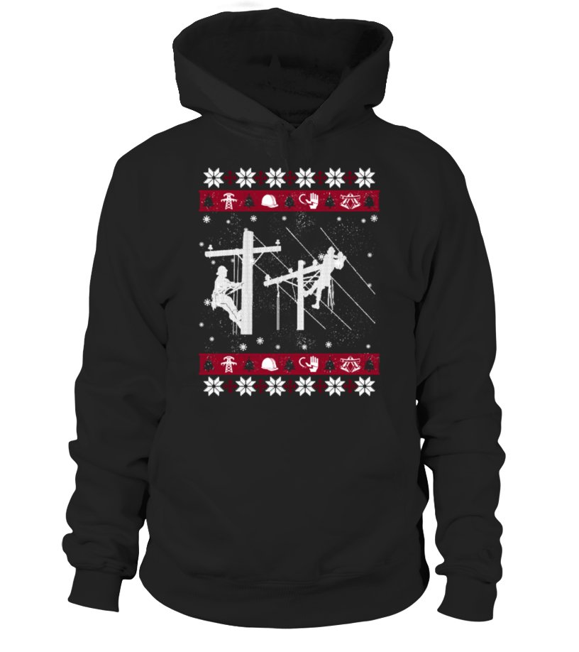 Awesome Christmas - LINEMAN Ugly Christmas Sweaters Hoodie Unisex