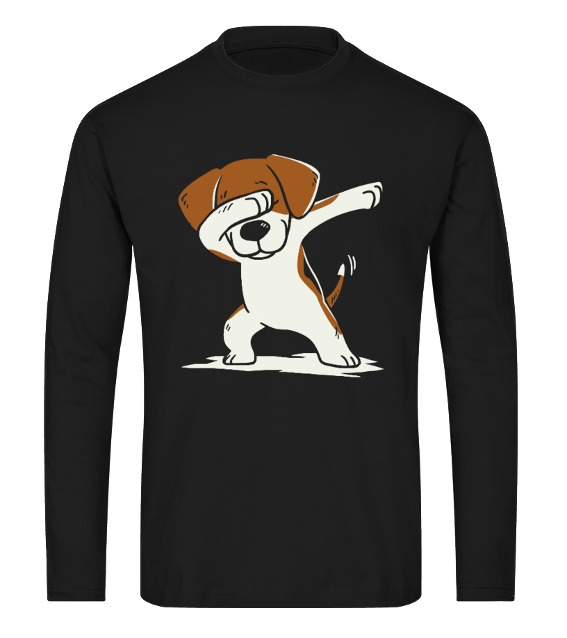 Awesome Christmas - Dog Dabbing Ugly Christmas Sweater Long sleeved T-shirt Unisex