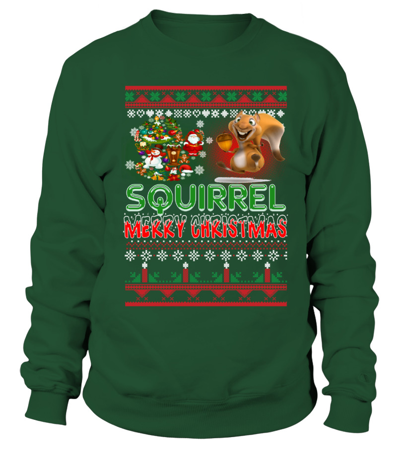 Awesome Christmas - SQUIRREL Merry Christmas Hoodie Sweatshirt Unisex