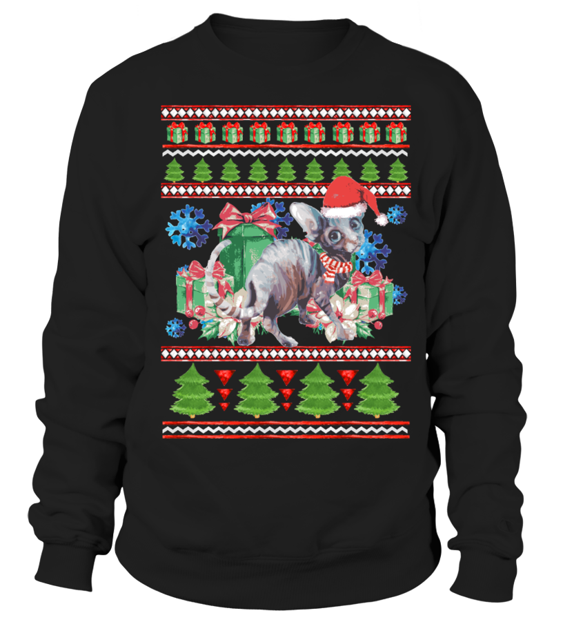 Sphynx Cat Ugly Christmas Sweater