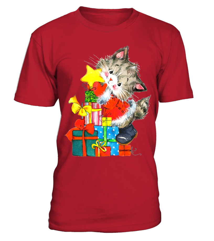 Funny Christmas - GIFTS FROM A CHRISTMAS CAT Round neck T-Shirt Unisex