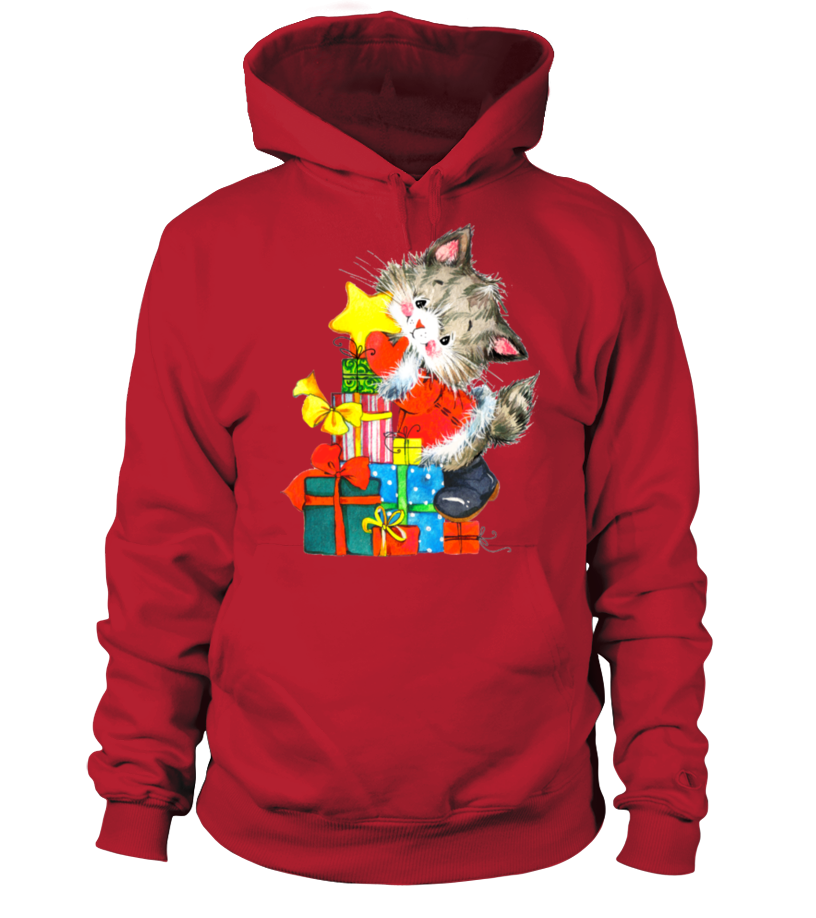 Funny Christmas - GIFTS FROM A CHRISTMAS CAT Hoodie Unisex