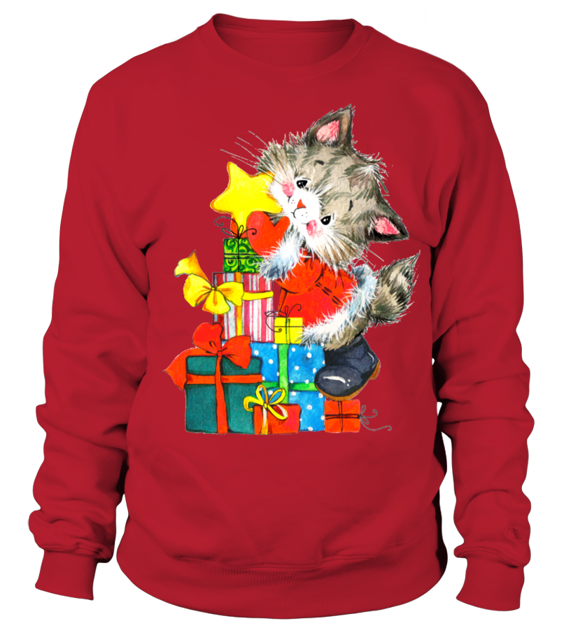 Funny Christmas - GIFTS FROM A CHRISTMAS CAT Sweatshirt Unisex
