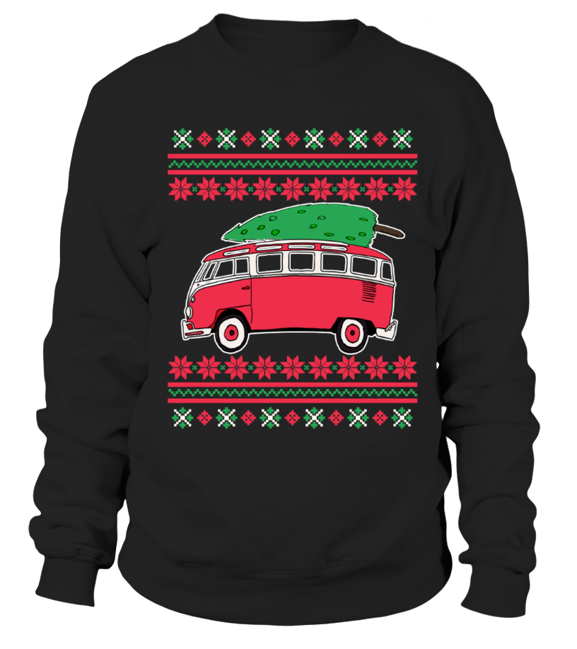 Muscle Car T Shirts For Men Limited Edition Merry Christmas Bus