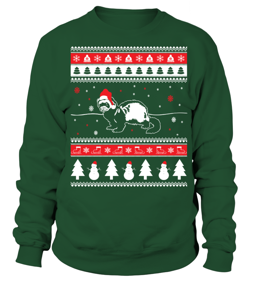 Funny Christmas - Ferret Ugly Christmas Sweater Sweatshirt Unisex