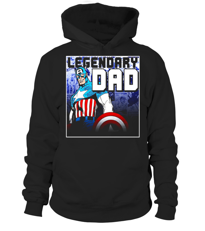 847b3636 Cool Marvel Captain America Fathers Day Legend Graphic T-Shirt T-shirt, V