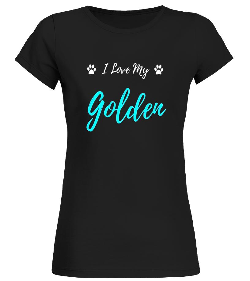 I Love My Golden T-Shirt Golden Retriever Dog Lover Gift