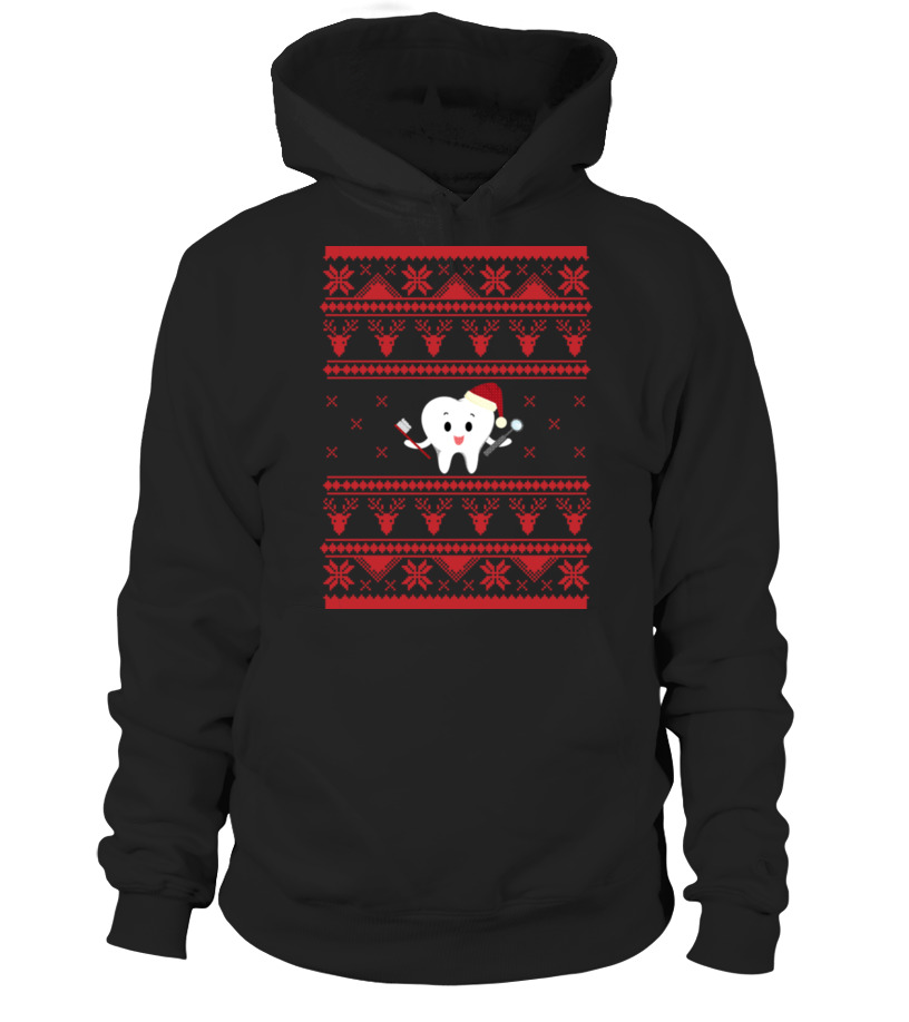 Shop Christmas - DENTIST Ugly Sweater For Christmas TOOTH Hoodie Unisex