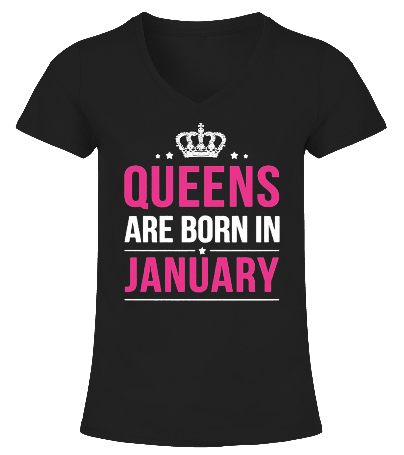 Queens Are Born In January T-Shirts