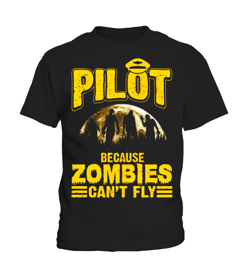 Best Halloween - Pilot Because Zombies Cant Fly Funny Halloween T-Shirt Kid T-Shirt