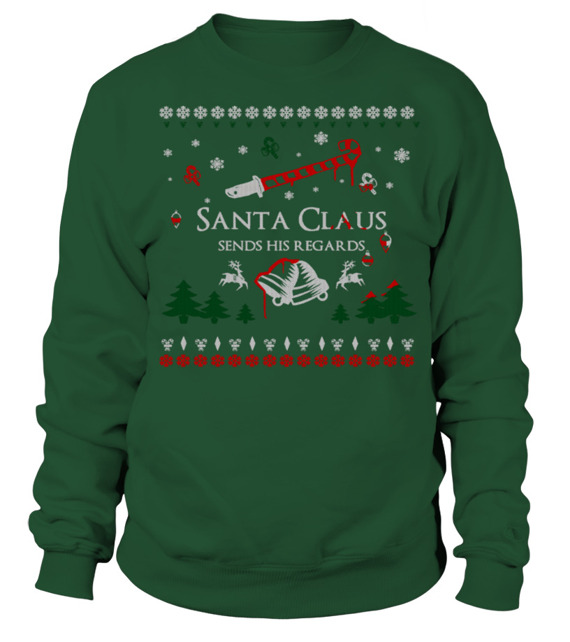 Sweater Santa Claus Sends His Regards Sweater Teezily